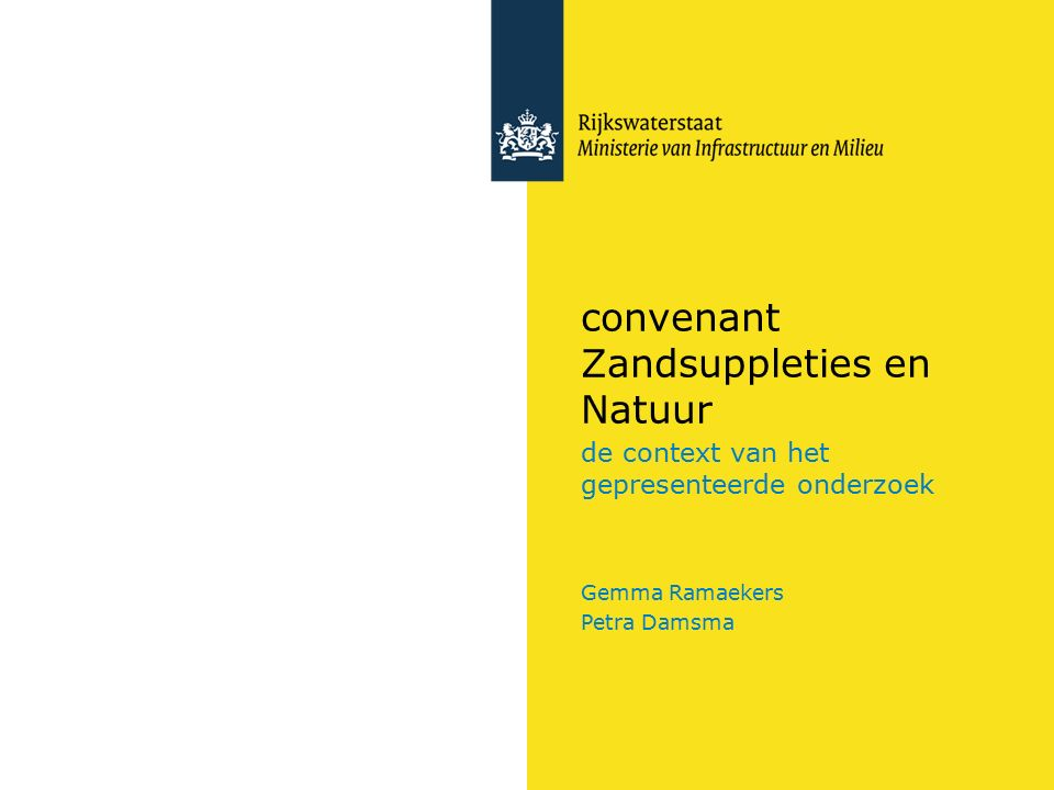 convenant Zandsuppleties en Natuur