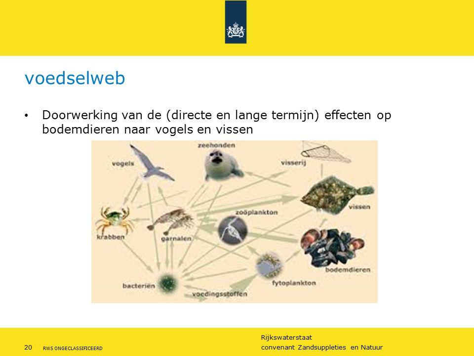 voedselweb Doorwerking van de (directe en lange termijn) effecten op bodemdieren naar vogels en vissen.