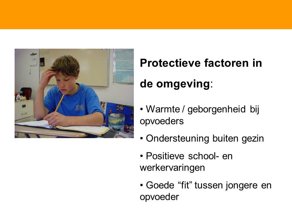 Protectieve factoren in de omgeving: