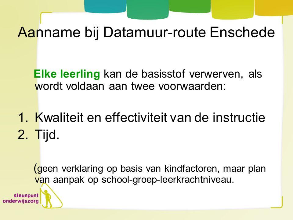 Aanname bij Datamuur-route Enschede