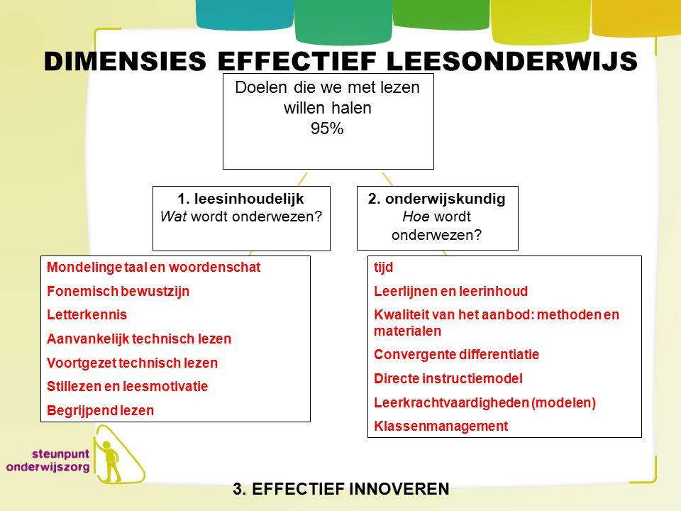 DIMENSIES EFFECTIEF LEESONDERWIJS