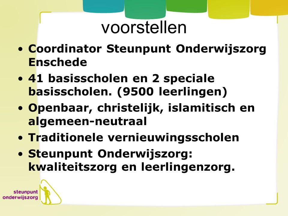 voorstellen Coordinator Steunpunt Onderwijszorg Enschede