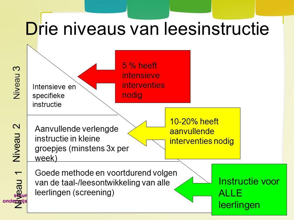 Drie niveaus van leesinstructie