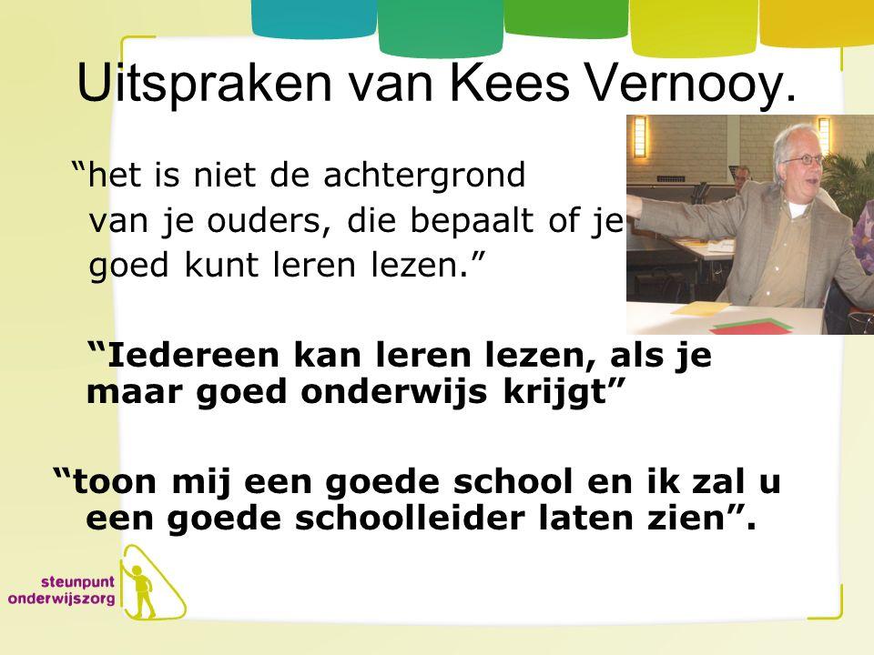 Uitspraken van Kees Vernooy.