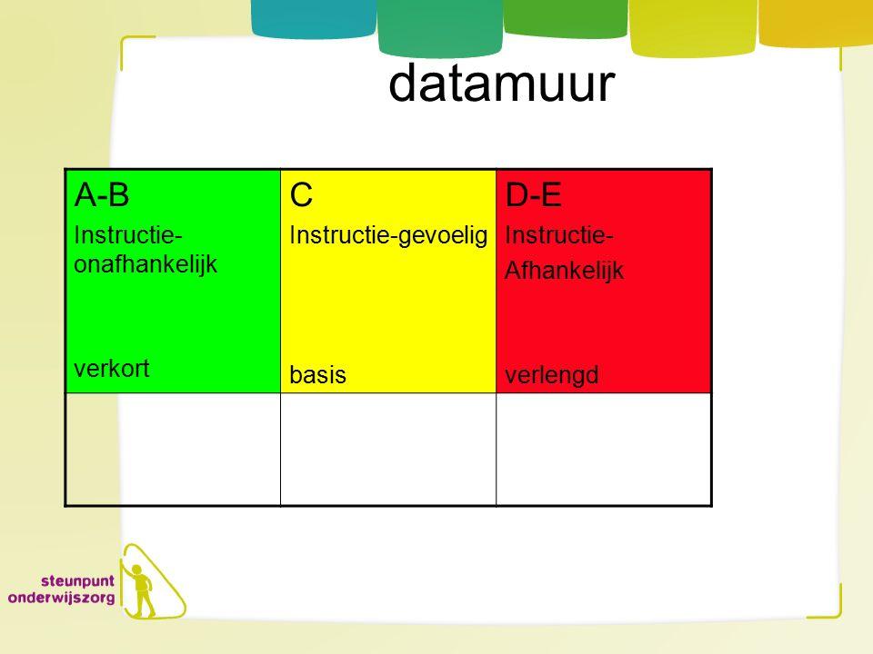 datamuur A-B C D-E Instructie-onafhankelijk verkort