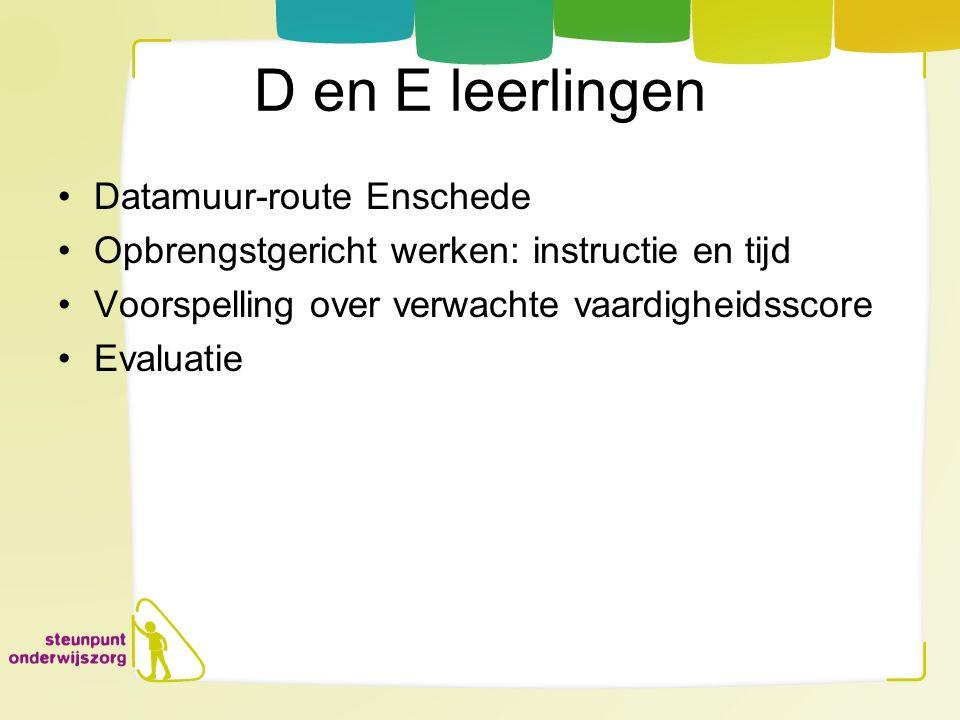 D en E leerlingen Datamuur-route Enschede