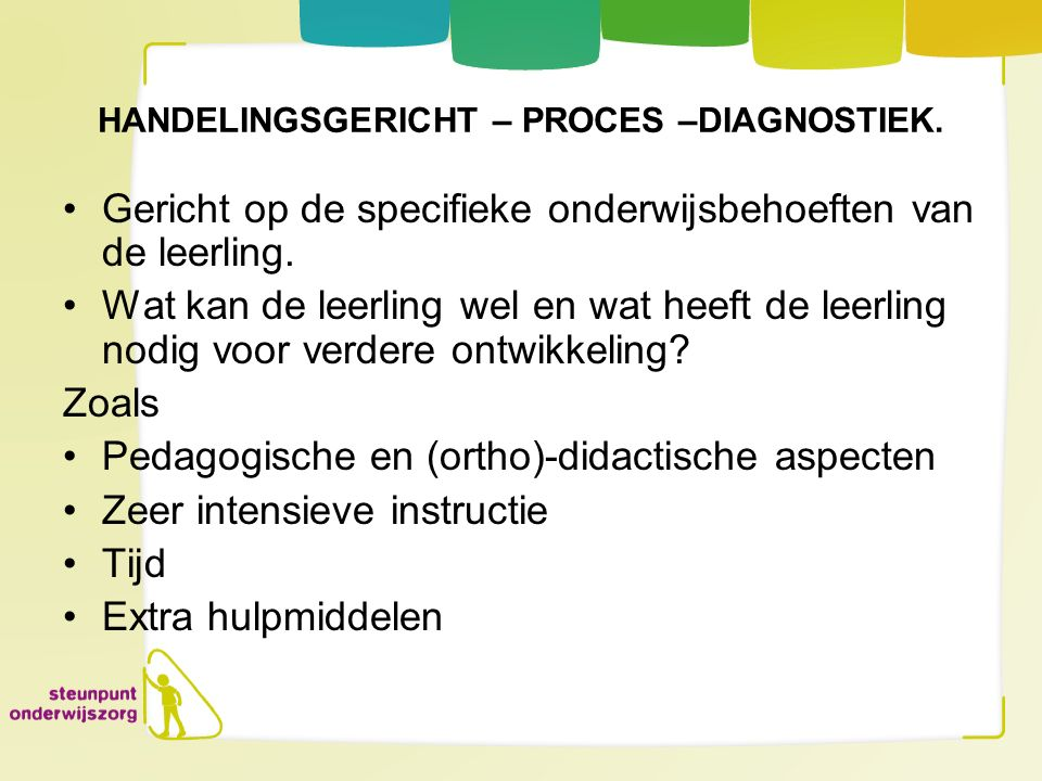 HANDELINGSGERICHT – PROCES –DIAGNOSTIEK.