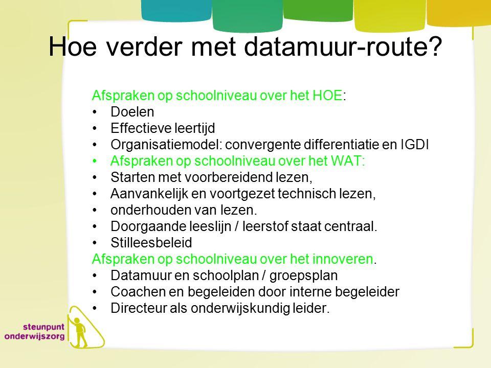 Hoe verder met datamuur-route