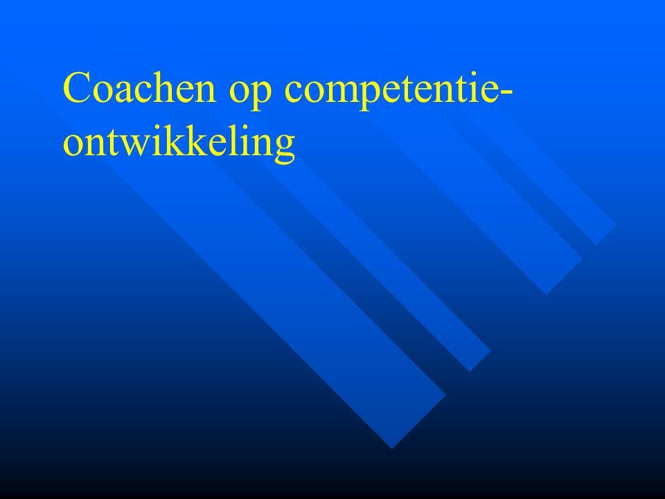 Coachen op competentie-ontwikkeling