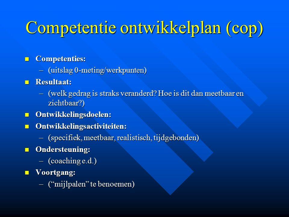 Competentie ontwikkelplan (cop)