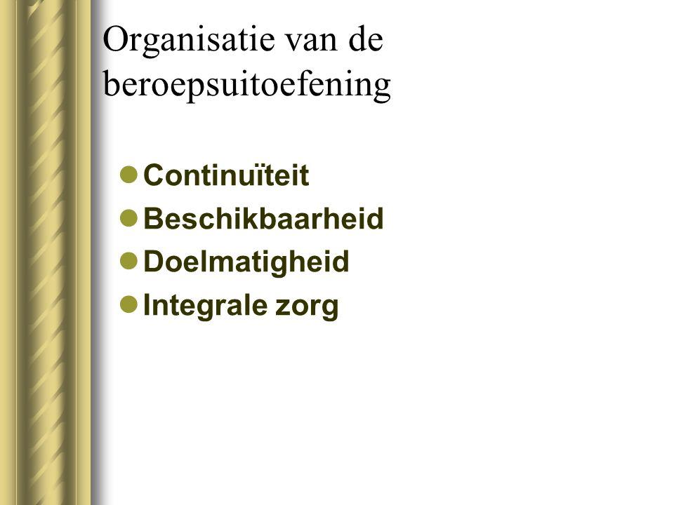 Organisatie van de beroepsuitoefening