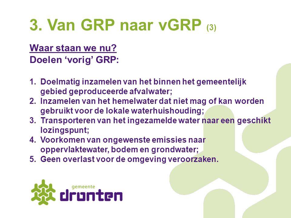 3. Van GRP naar vGRP (3) Waar staan we nu Doelen 'vorig' GRP: