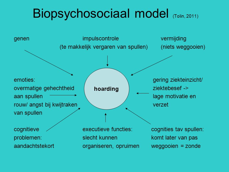 Biopsychosociaal model (Tolin, 2011)
