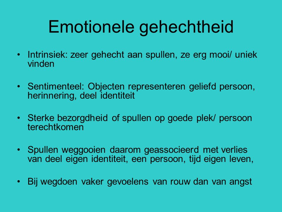 Emotionele gehechtheid