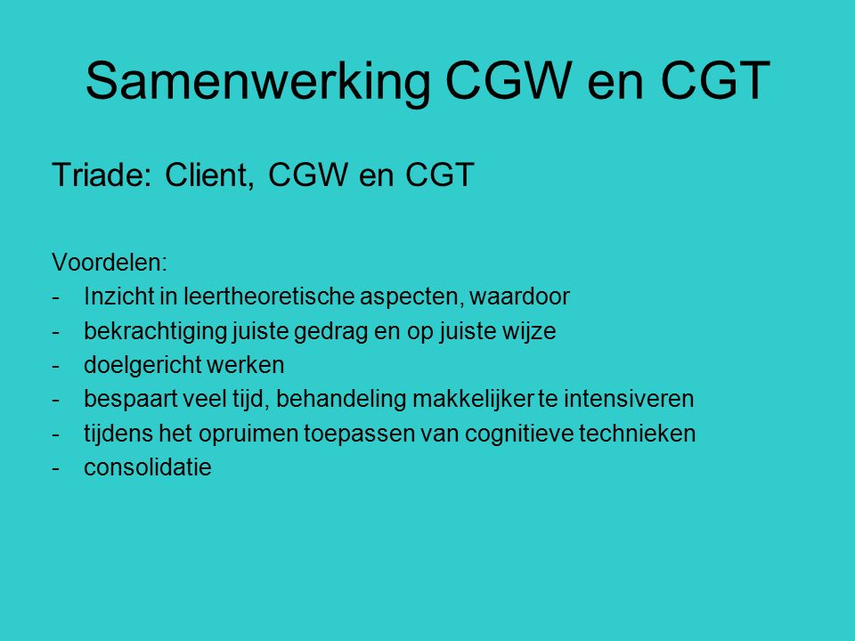 Samenwerking CGW en CGT