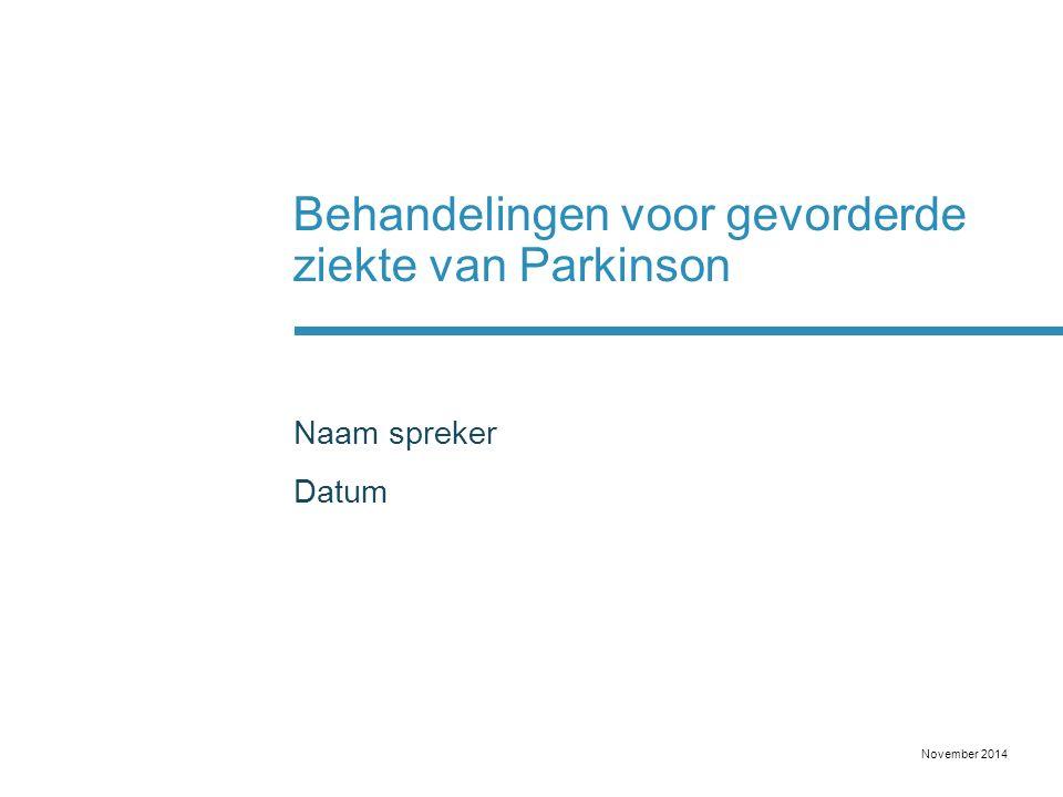 Behandelingen voor gevorderde ziekte van Parkinson
