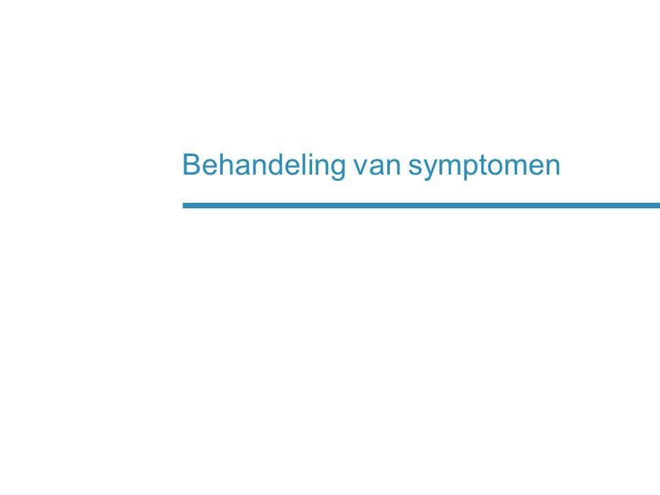 Behandeling van symptomen