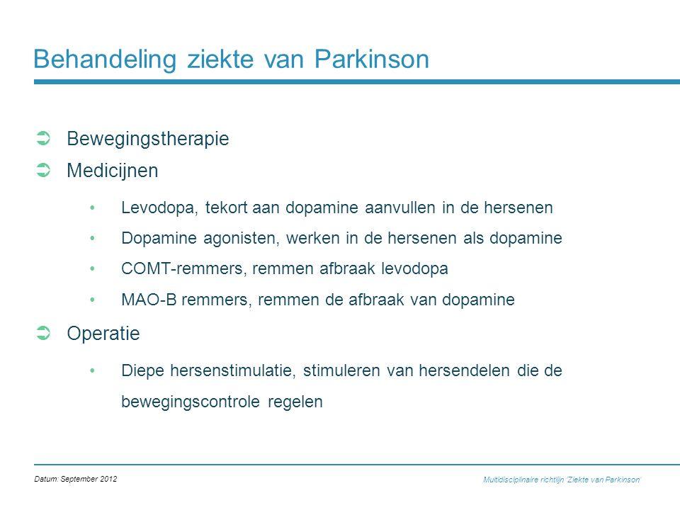 Behandeling ziekte van Parkinson