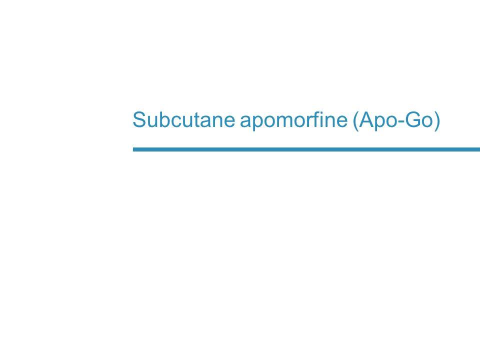 Subcutane apomorfine (Apo-Go)