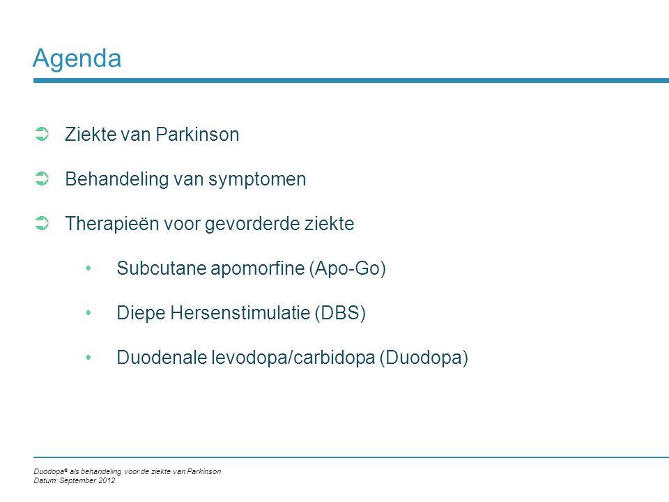 Agenda Ziekte van Parkinson Behandeling van symptomen
