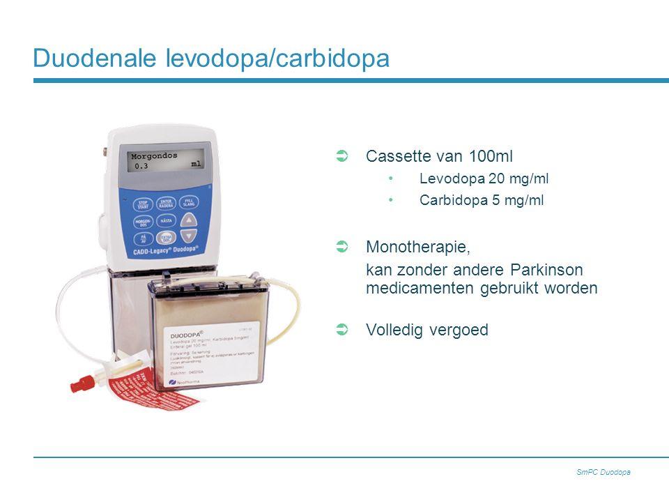 Duodenale levodopa/carbidopa
