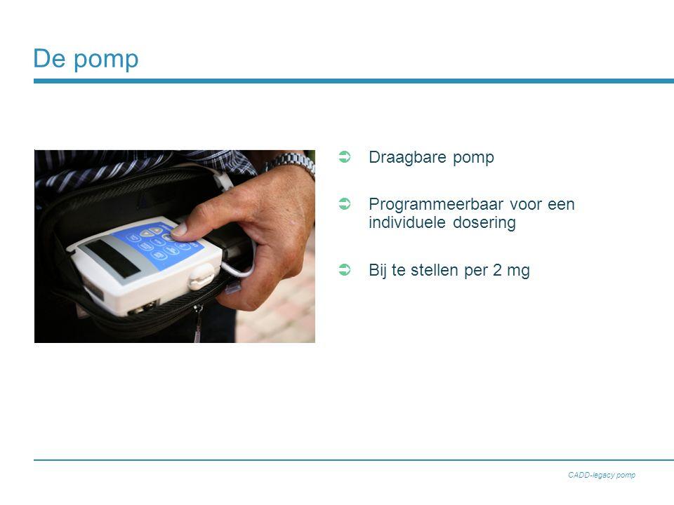 De pomp Draagbare pomp Programmeerbaar voor een individuele dosering