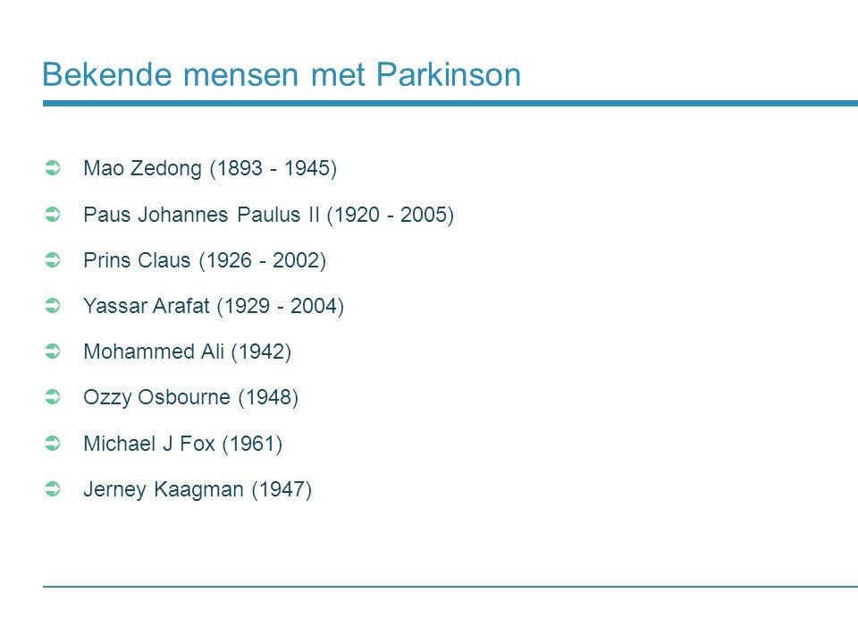 Bekende mensen met Parkinson