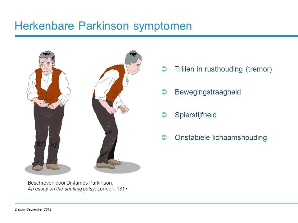Herkenbare Parkinson symptomen