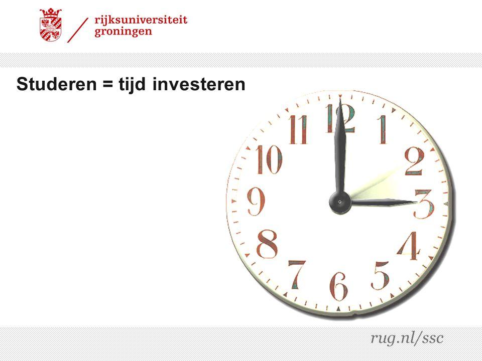 Studeren = tijd investeren