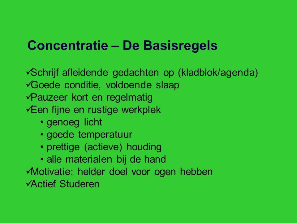 Concentratie – De Basisregels