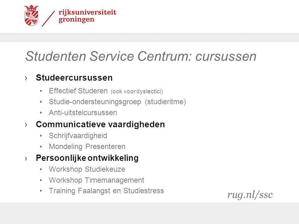 Studenten Service Centrum: cursussen