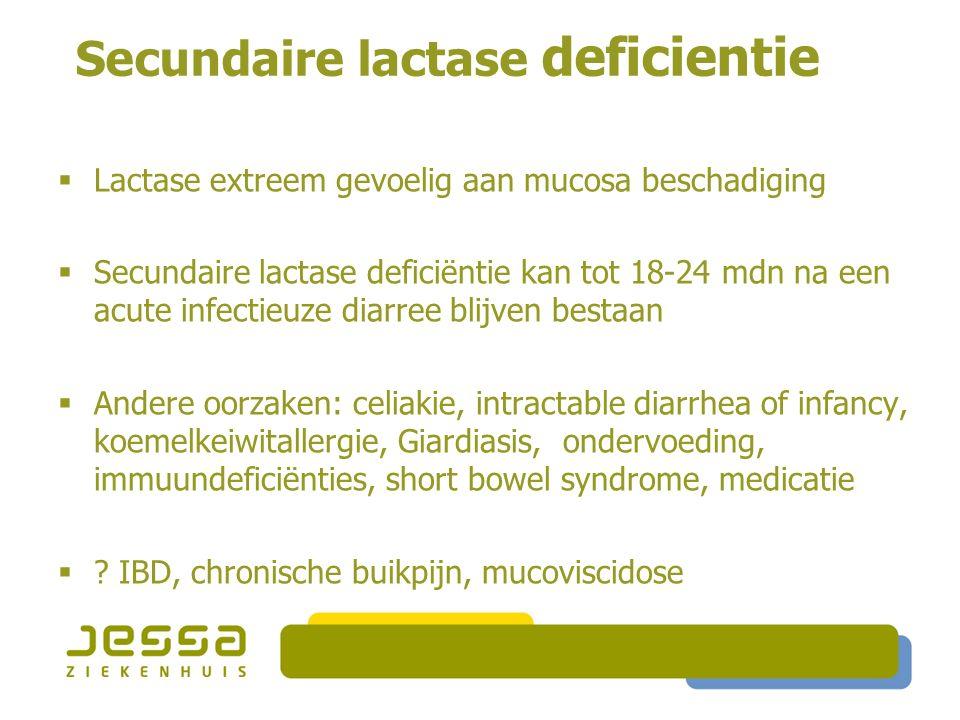 Secundaire lactase deficientie