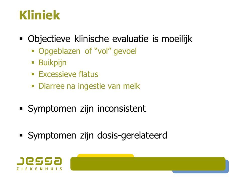 Kliniek Objectieve klinische evaluatie is moeilijk