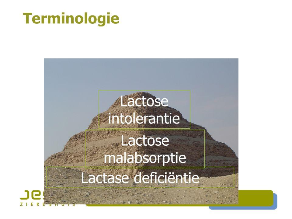 Lactase deficiëntie Terminologie Lactose intolerantie