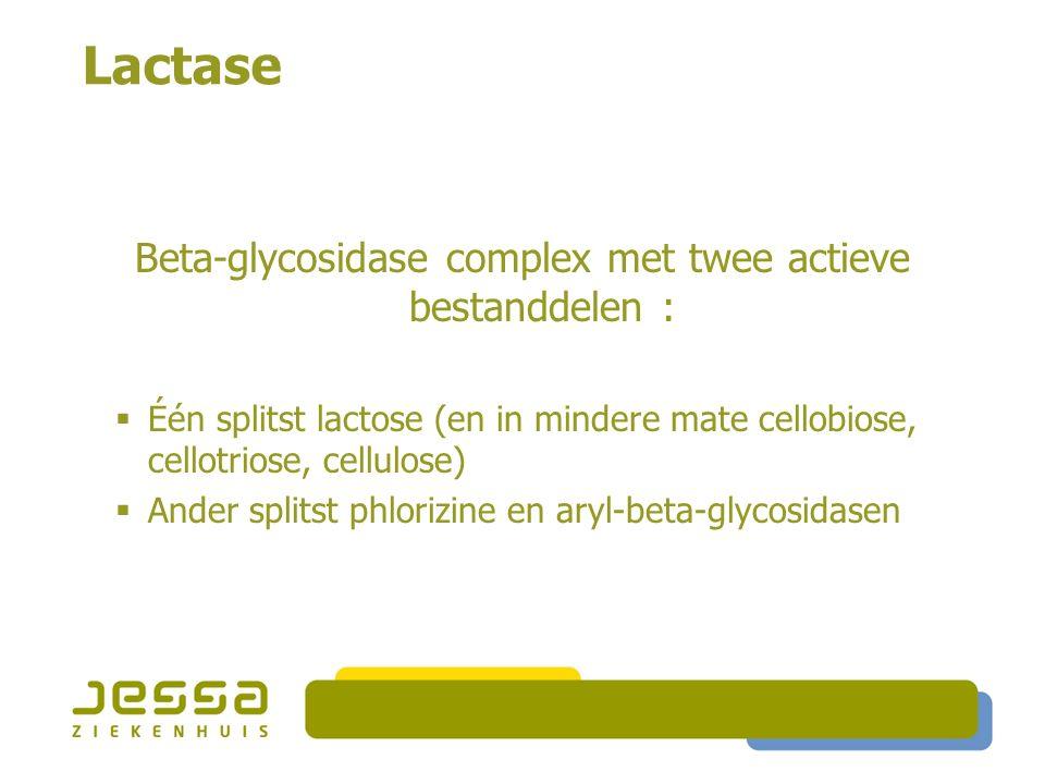 Beta-glycosidase complex met twee actieve bestanddelen :