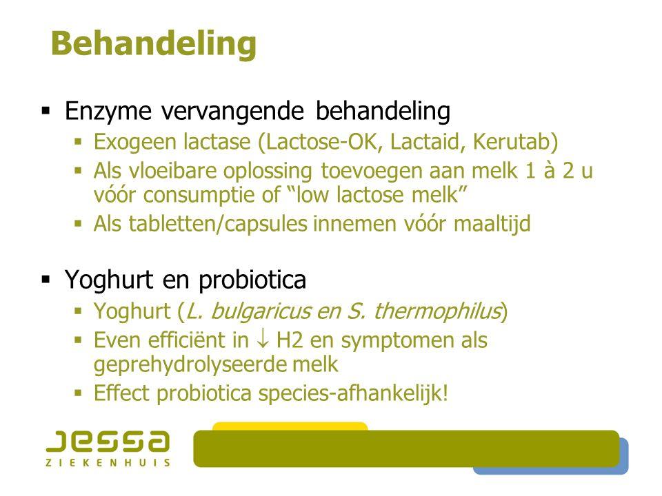 Behandeling Enzyme vervangende behandeling Yoghurt en probiotica