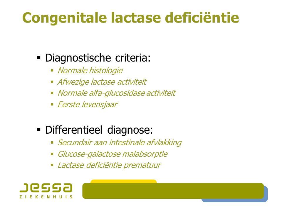 Congenitale lactase deficiëntie