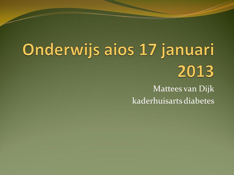 Onderwijs aios 17 januari 2013