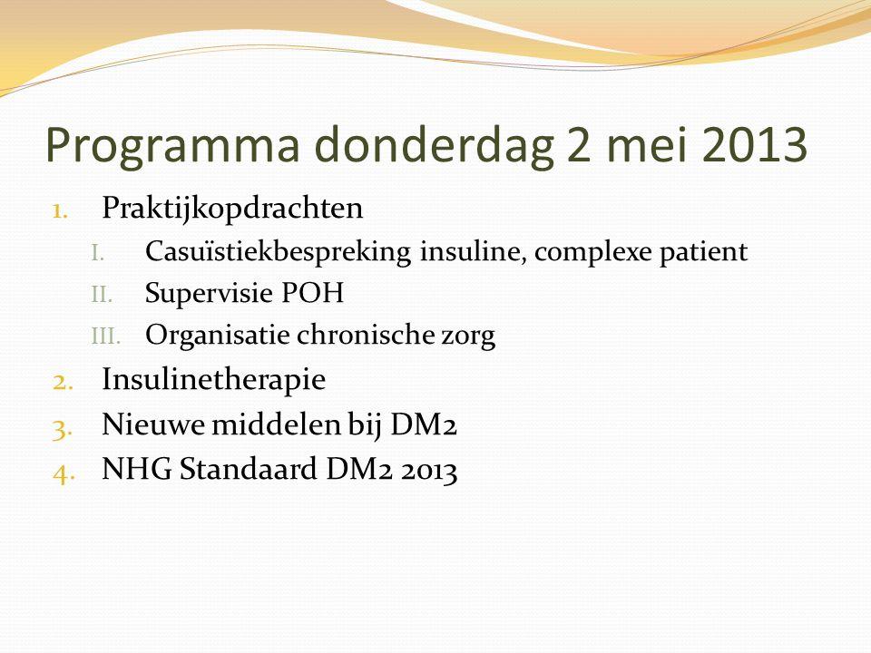 Programma donderdag 2 mei 2013