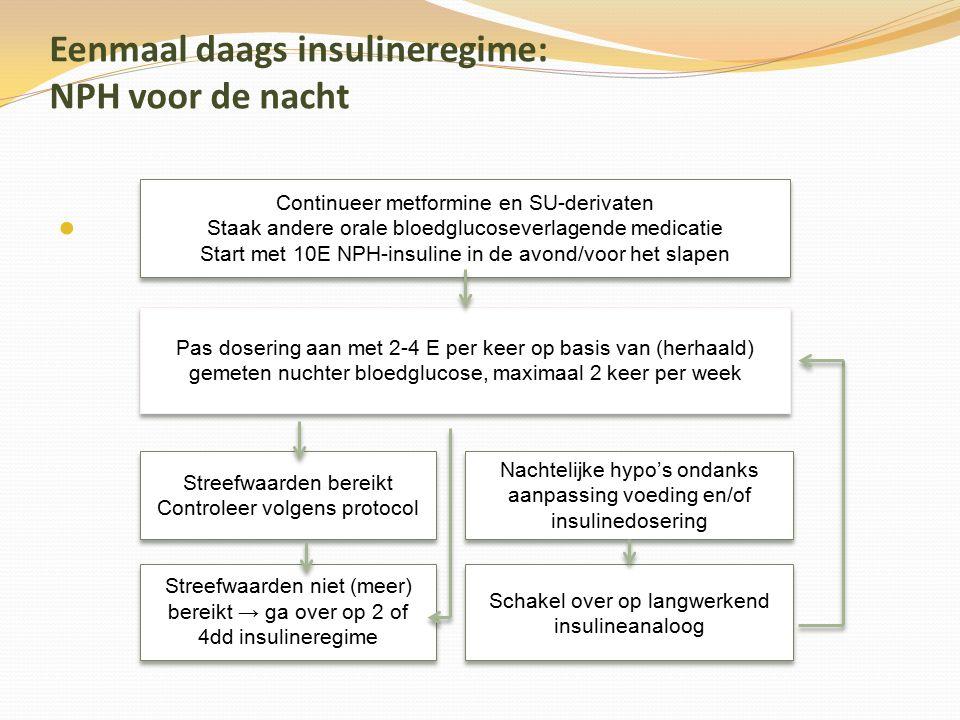 Eenmaal daags insulineregime: NPH voor de nacht