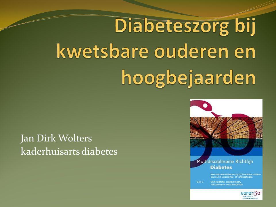Diabeteszorg bij kwetsbare ouderen en hoogbejaarden