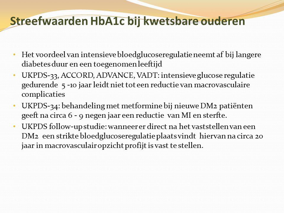 Streefwaarden HbA1c bij kwetsbare ouderen