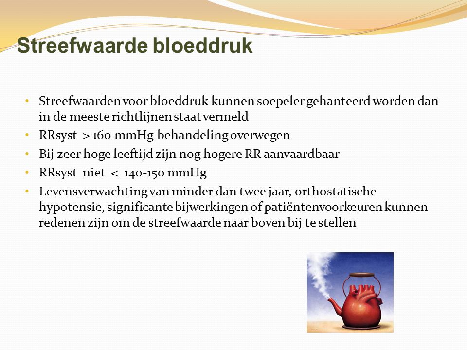 Streefwaarde bloeddruk