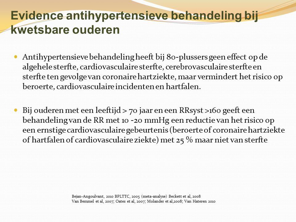 Evidence antihypertensieve behandeling bij kwetsbare ouderen
