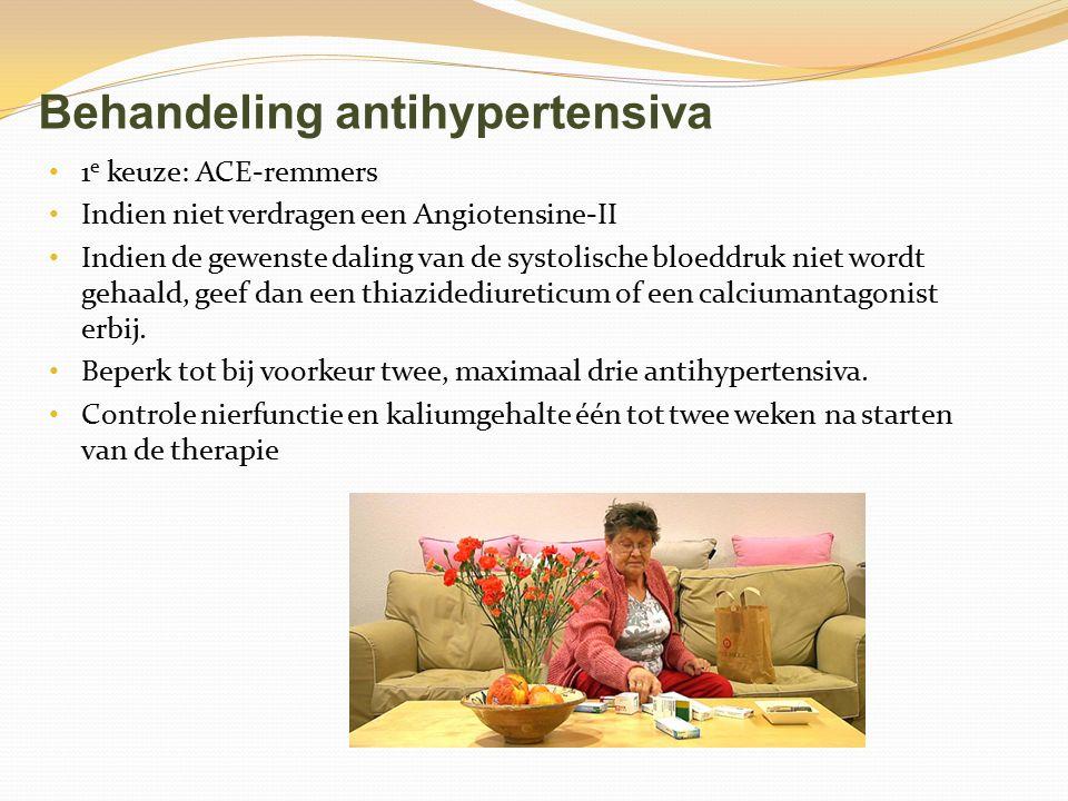 Behandeling antihypertensiva