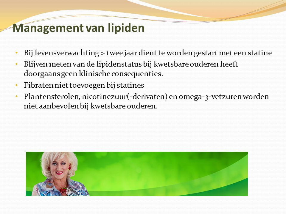Management van lipiden
