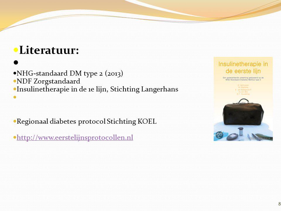 Literatuur: NHG-standaard DM type 2 (2013) NDF Zorgstandaard