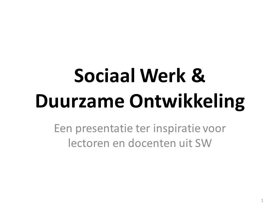 Sociaal Werk & Duurzame Ontwikkeling