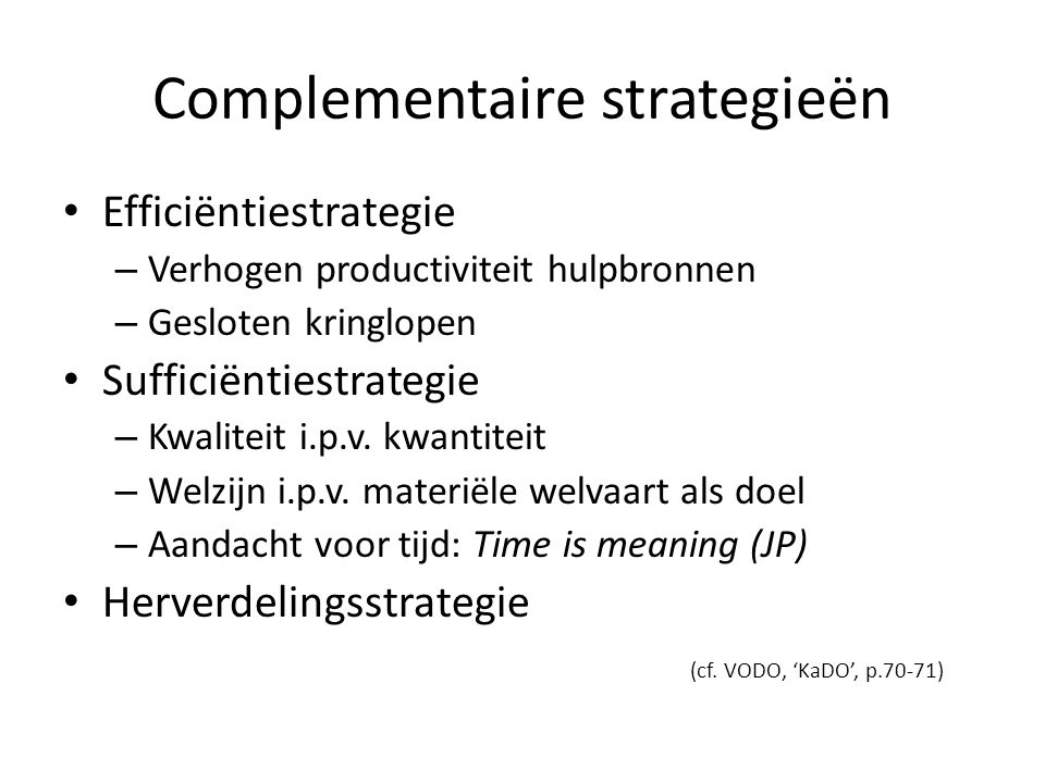 Complementaire strategieën