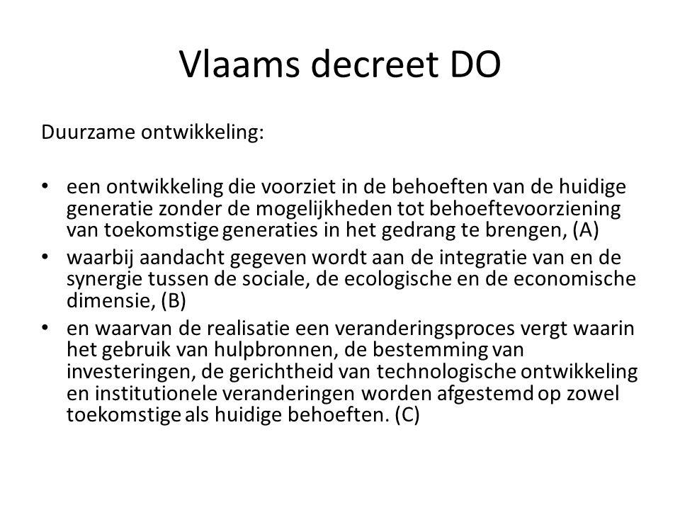 Vlaams decreet DO Duurzame ontwikkeling: